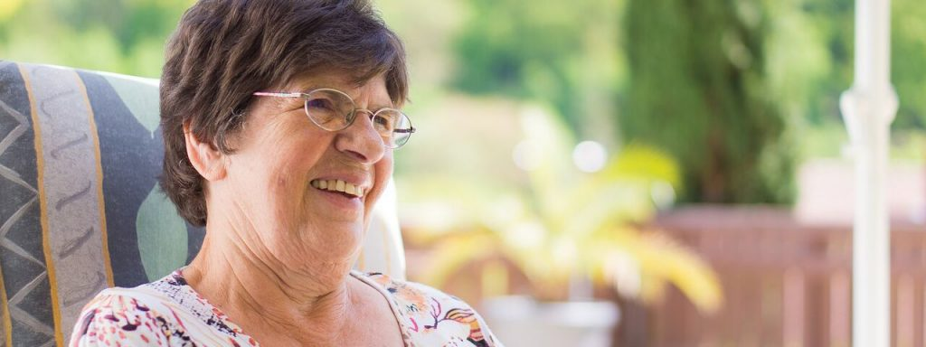 Grandmother with Glasses Outside - Dentist - Dental Exam - Delaware & Lewis Center, OH